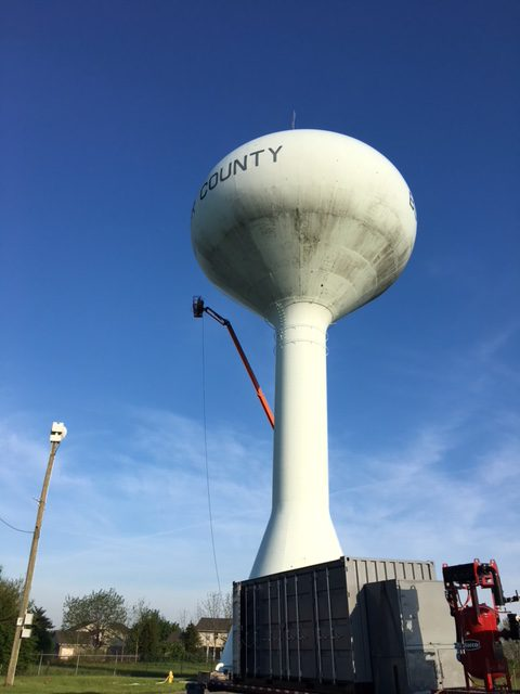 Interior/Exterior Painting of Elevated Water Tanks — Hamilton, Ohio