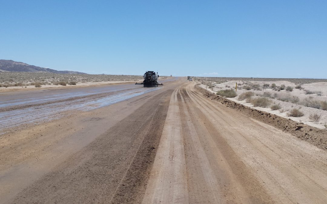 Dust Control for Air Quality Compliance on Manix Trail –  Fort Irwin, California